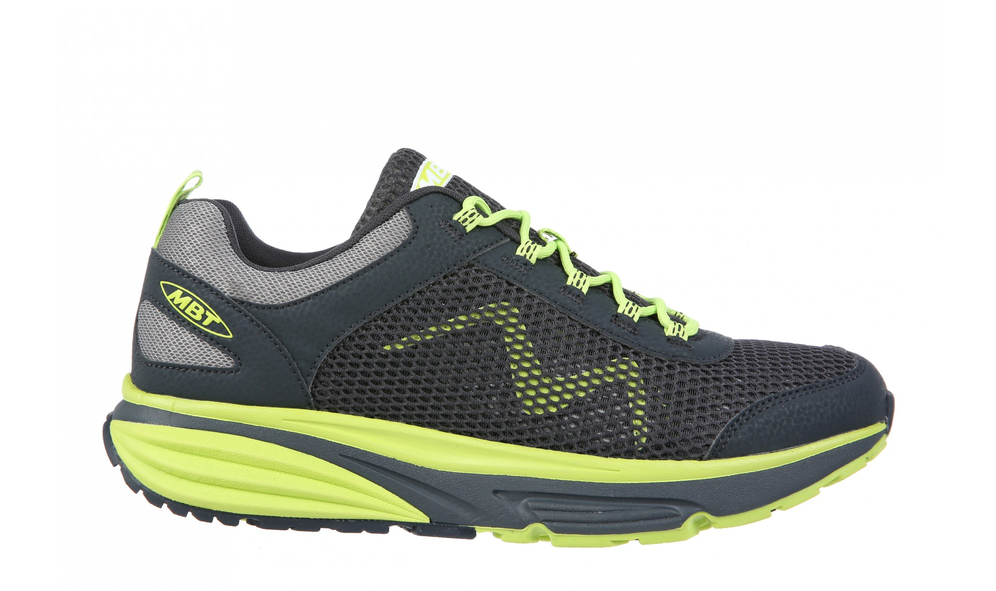 MBT Colorado 17 Men's Charcoal Gray / Neon Lime