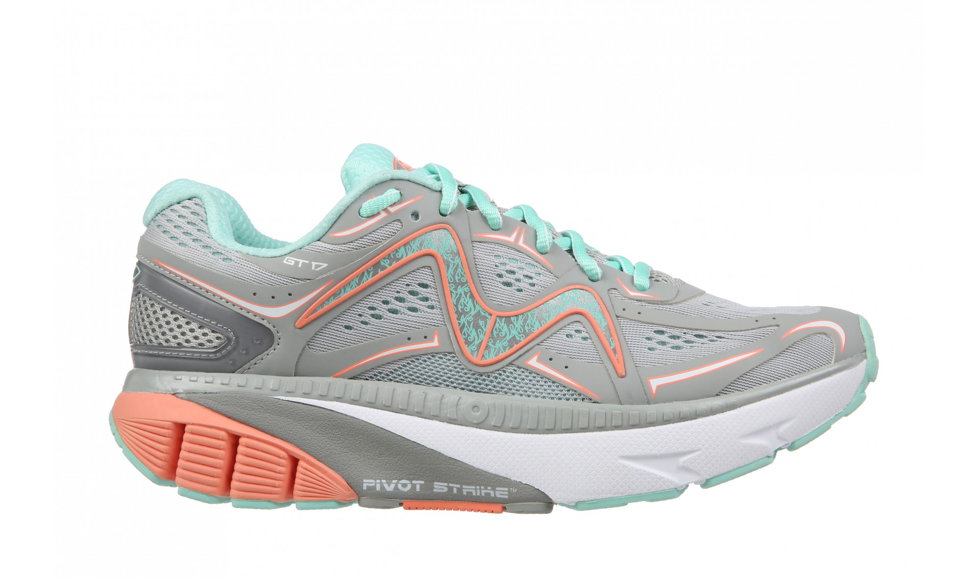MBT GT 17 Women's Gray / Teal / Peach / White