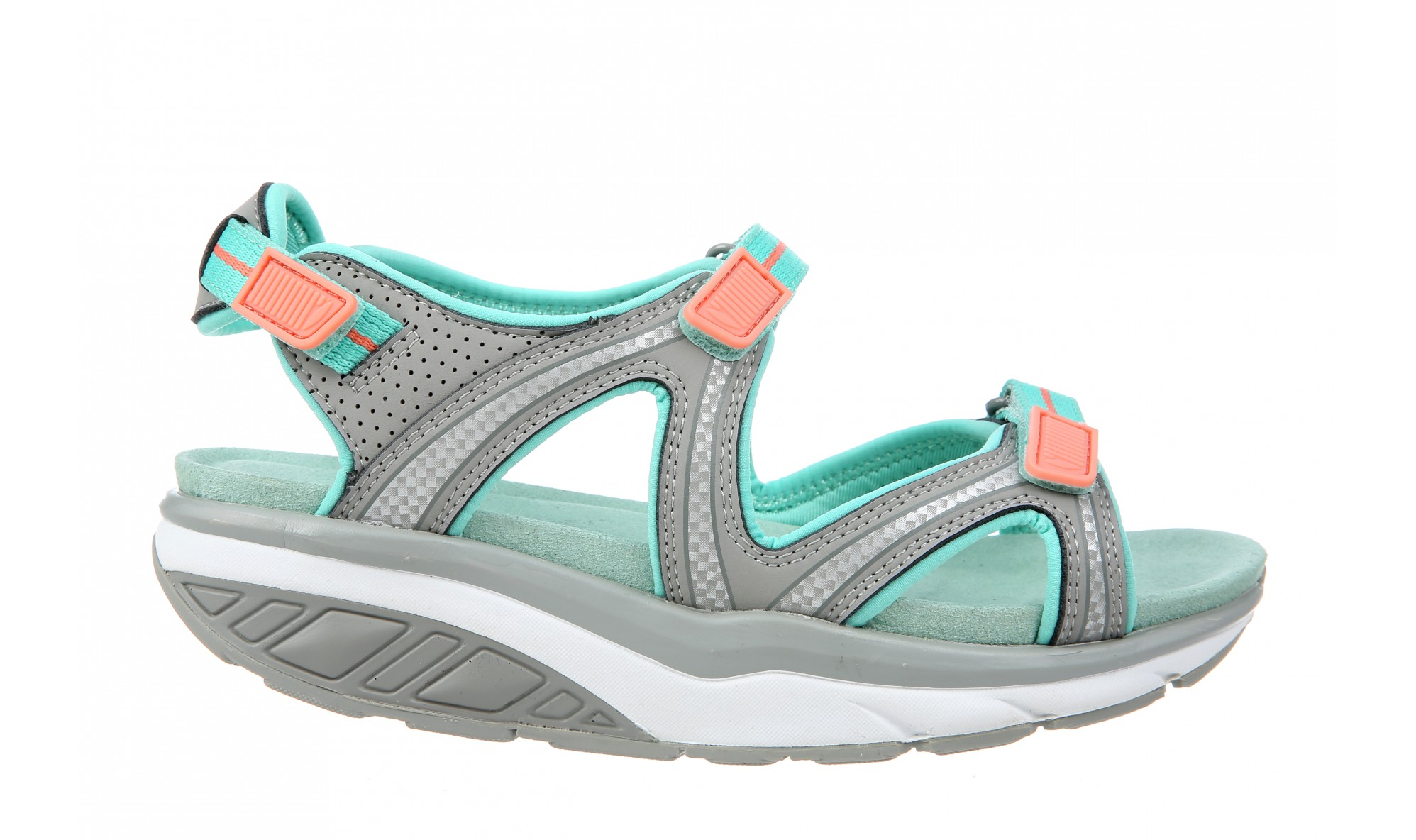 MBT Lila 6 Sport Women's Gray / Teal / Peach / White