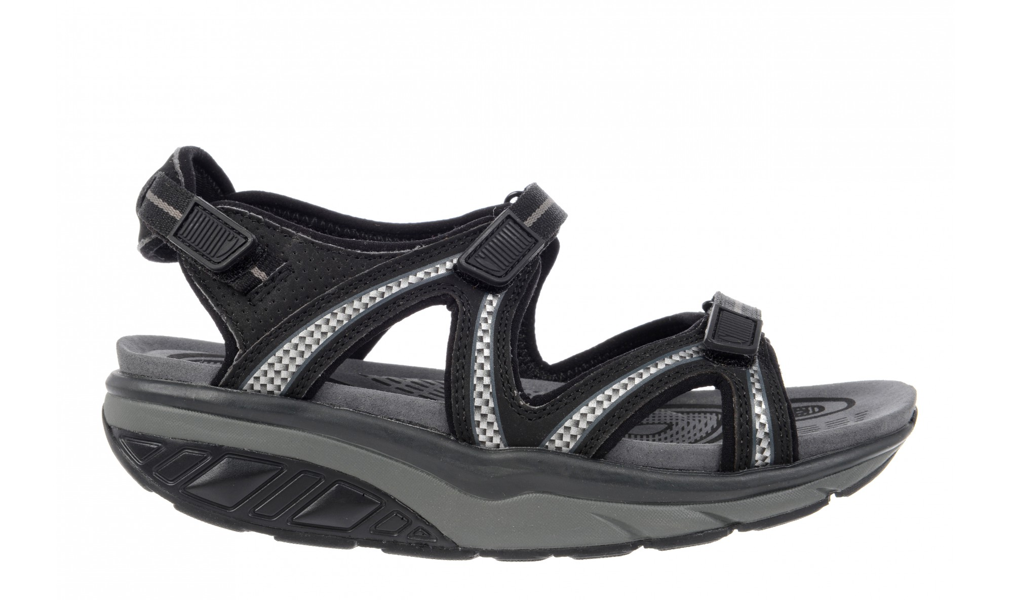 MBT Lila 6 Sport Women's Sandal Black / Charcoal Gray