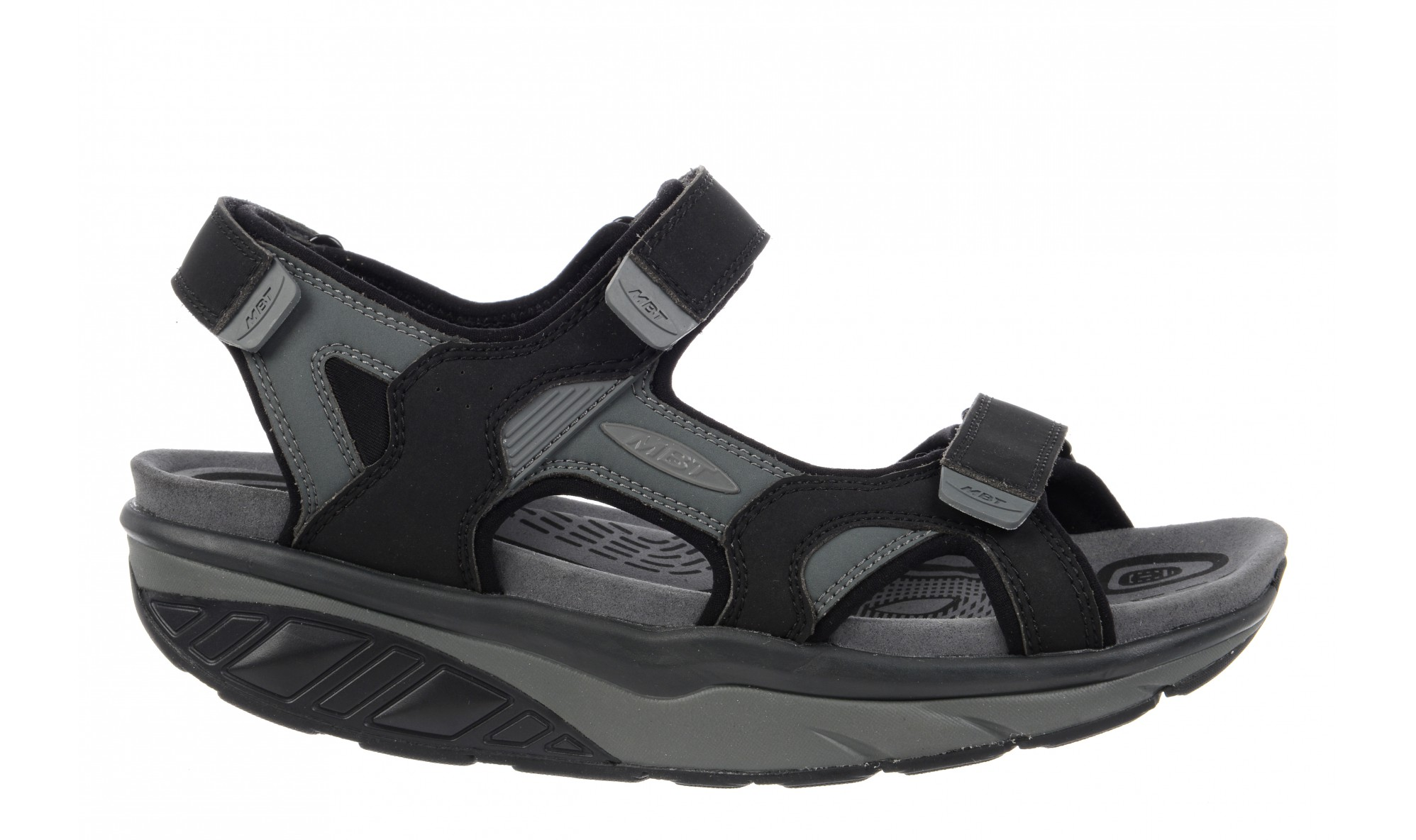 MBT Men's Saka 6S Sport Sandal Black / Charcoal Gray