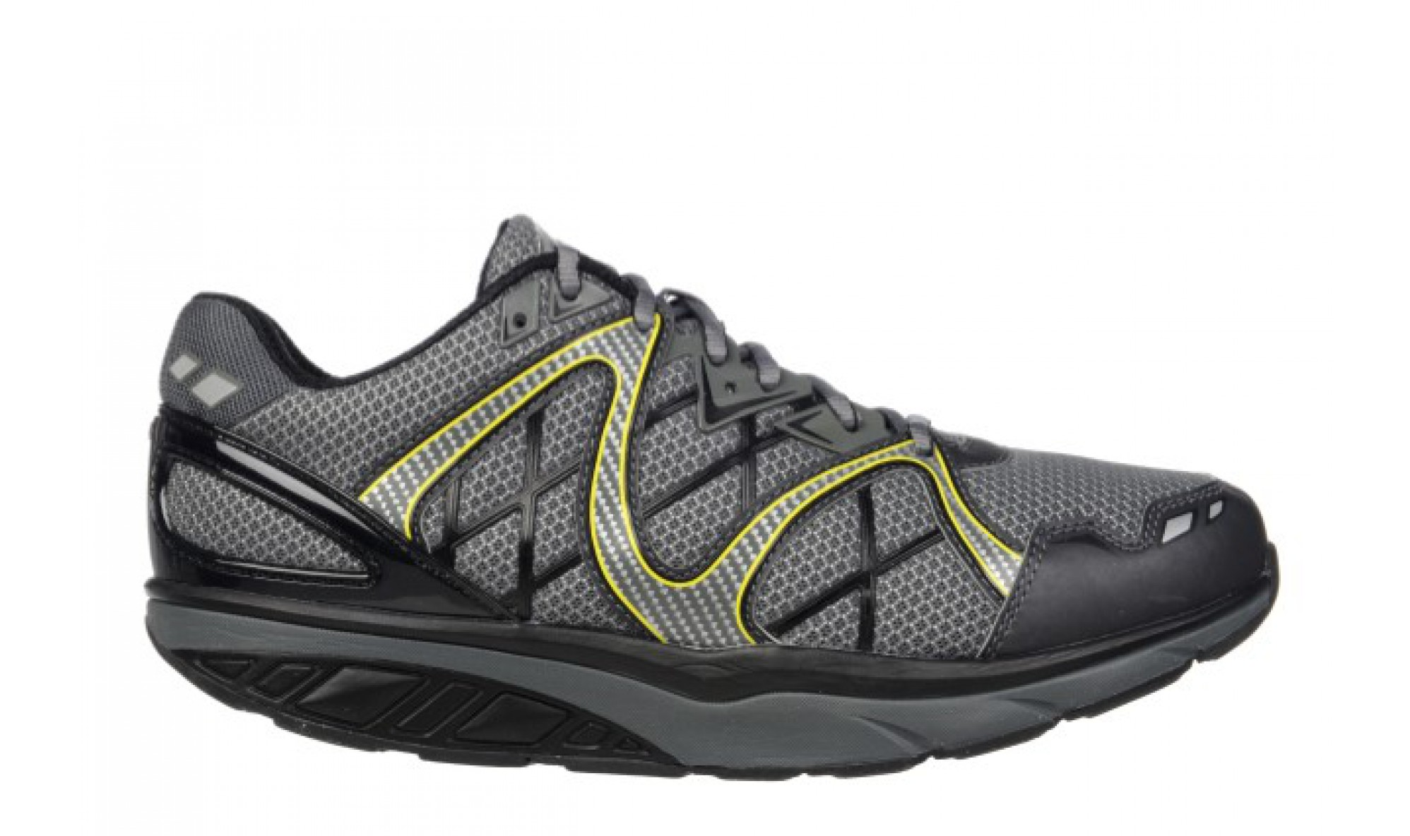MBT Men's Simba 6 Black / Volcano Gray / Yellow Lime