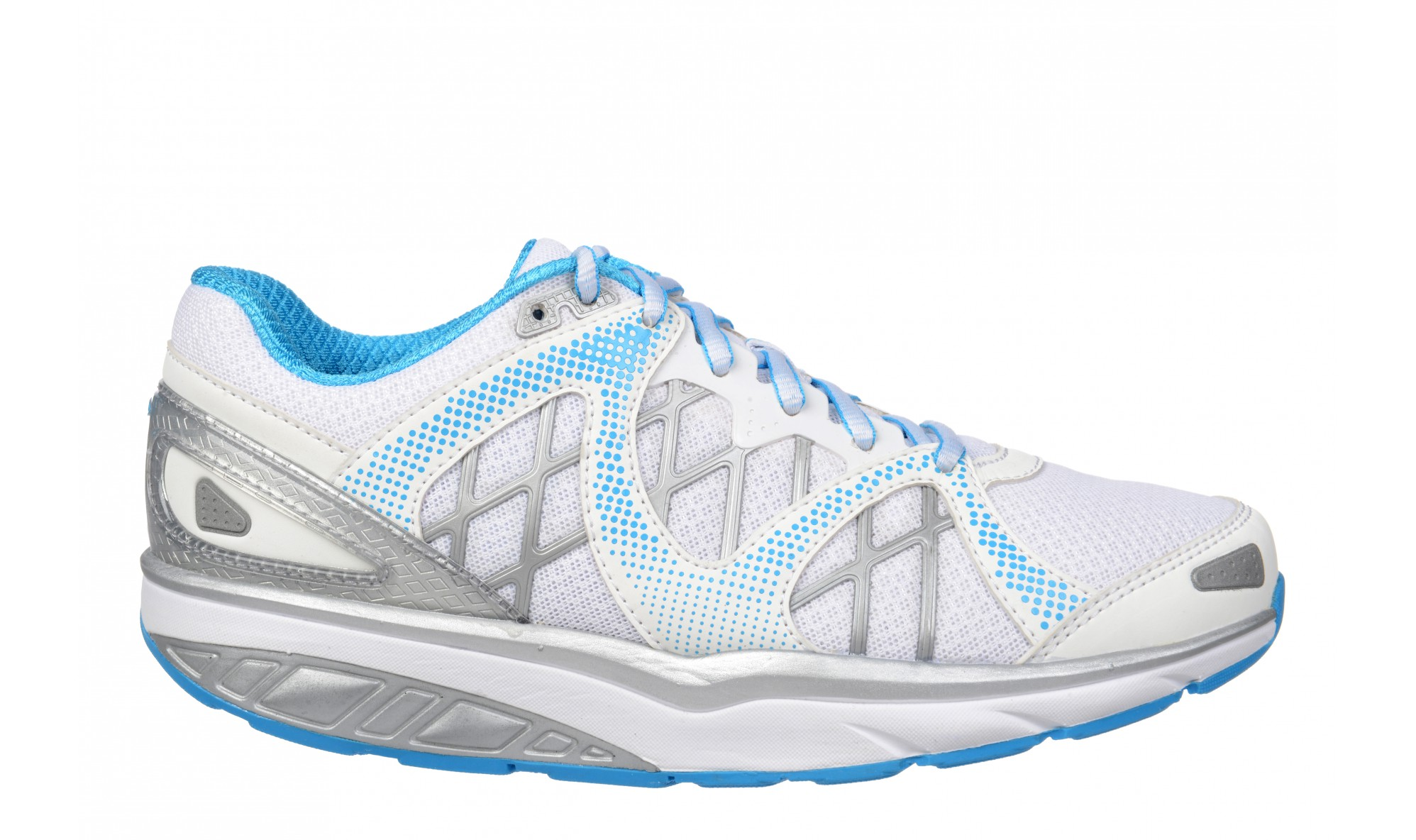MBT Women's Afiya 6 White / Silver / Blue Pop
