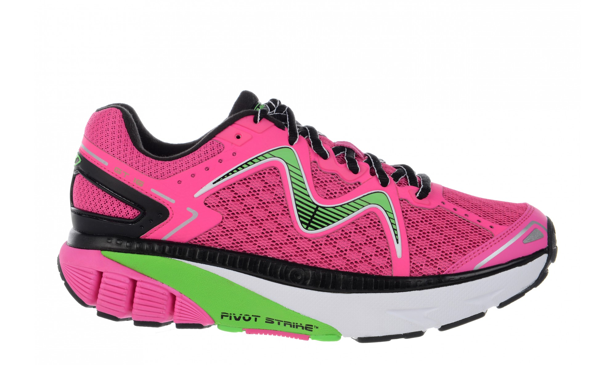 MBT Women's GT 16 Fuchsia / Lime / Black