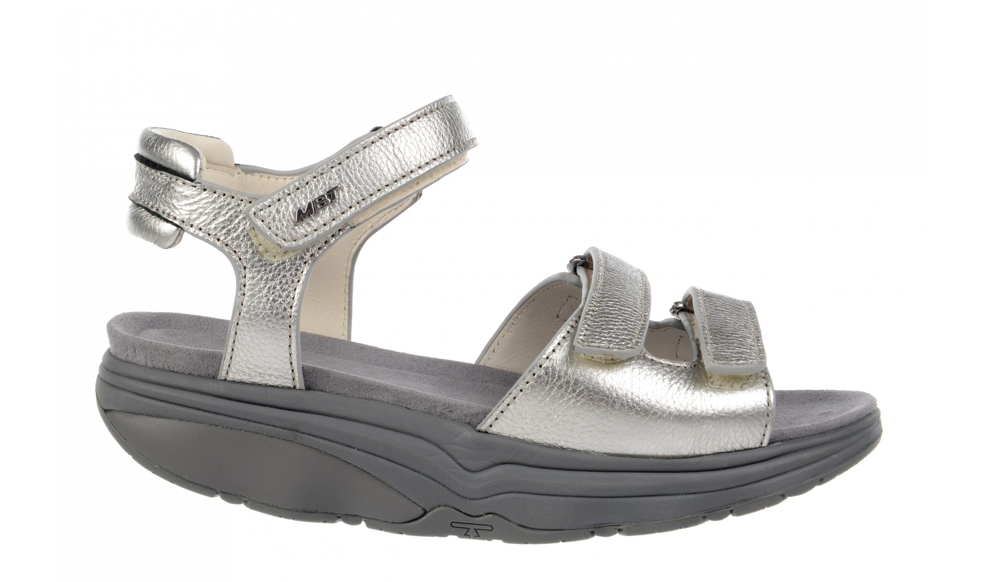 MBT Women's Hanuni 6 Double Strap Silver