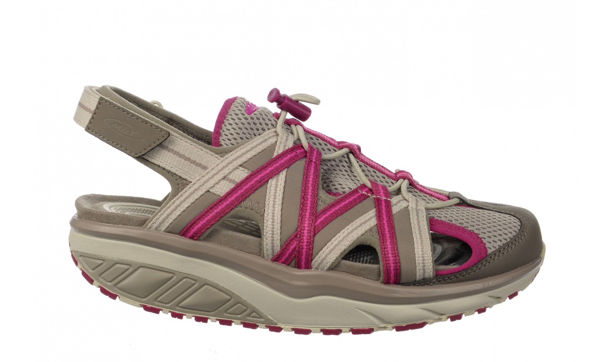 MBT Women's Jasira 6 Trail Sandal Clay Gray / Red Violet