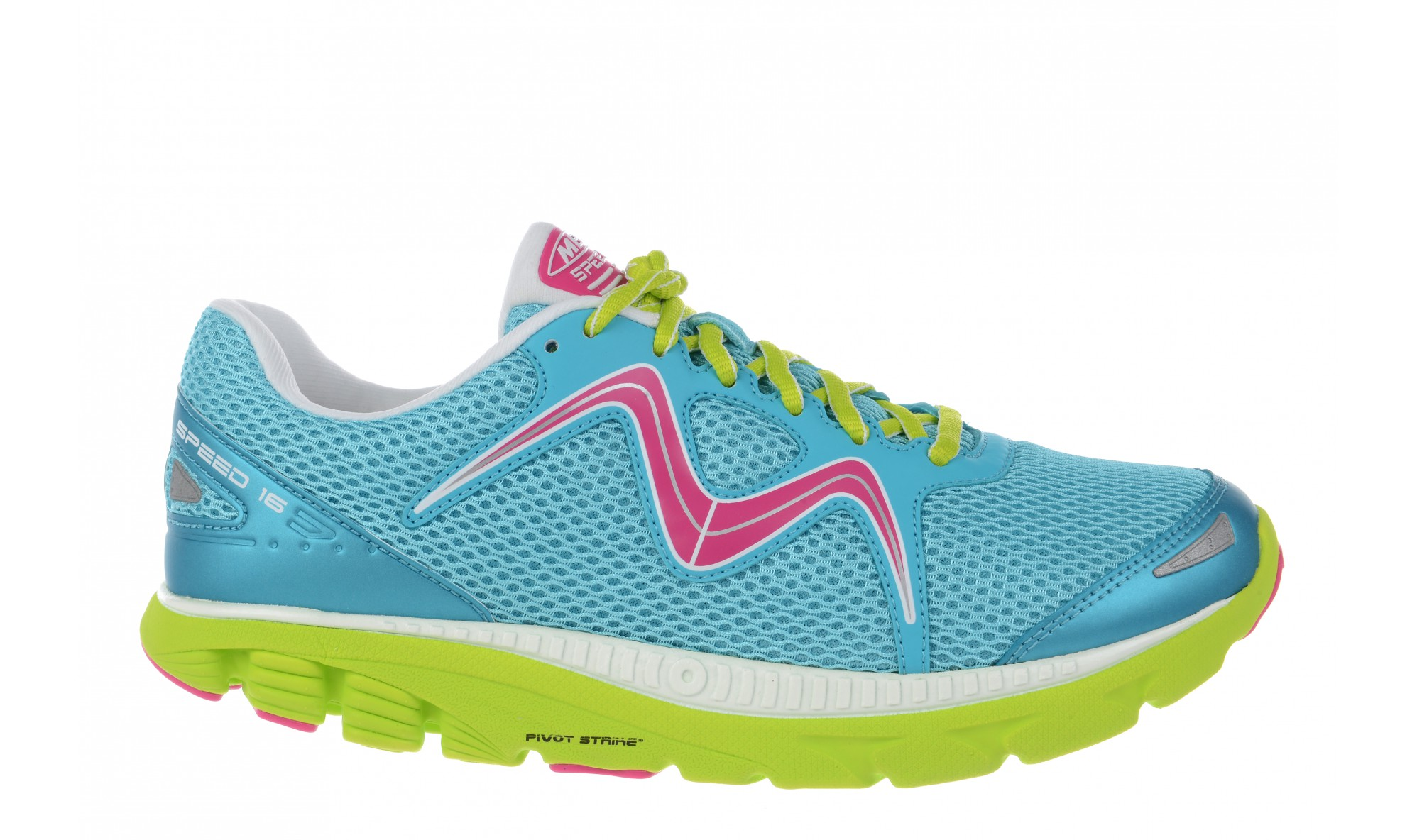MBT Women's Speed 16 Lace Up Powder Blue / Lime / Fuschia