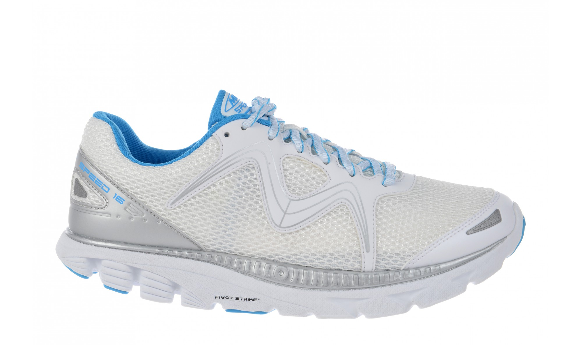 MBT Women's Speed 16 Lace Up White / Powder Blue / Silver