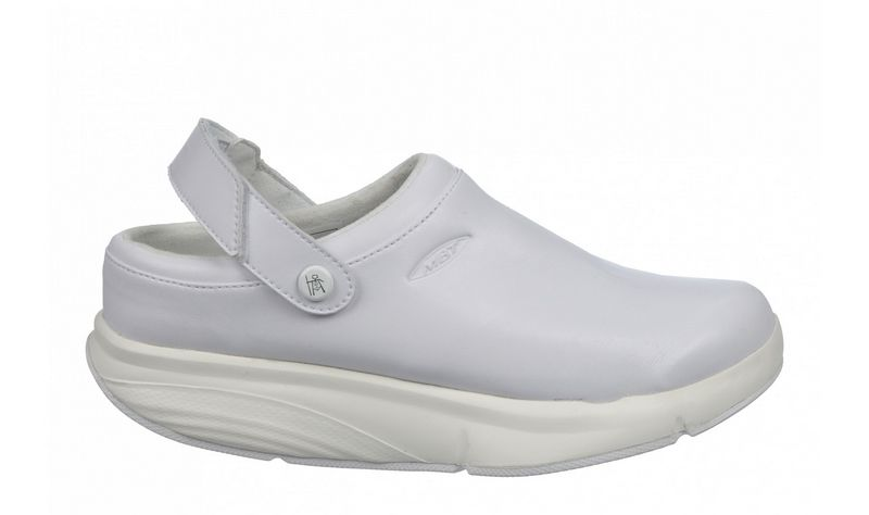 Women's MBT Time Service Clog White