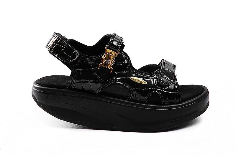 Women's MBT Sandals Crocodile Black