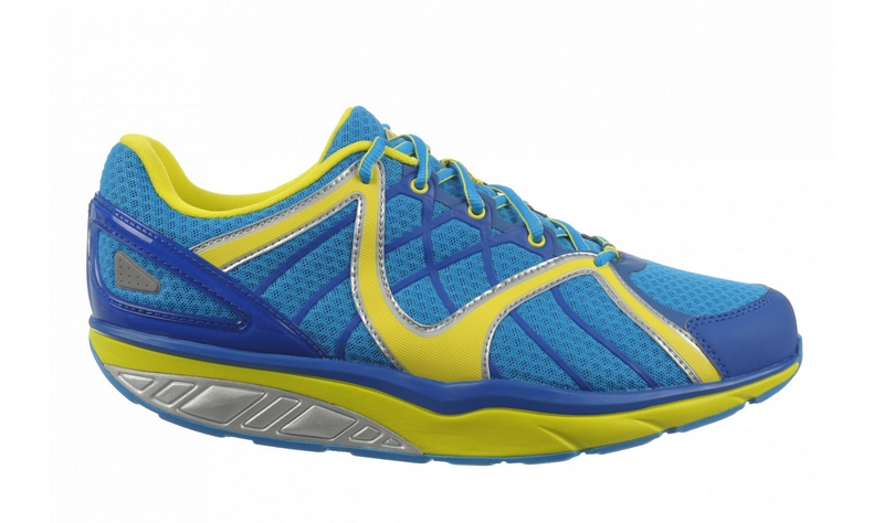 Men's MBT Jengo 5 Sport Neutral Velvet Blue, Lemon Lime