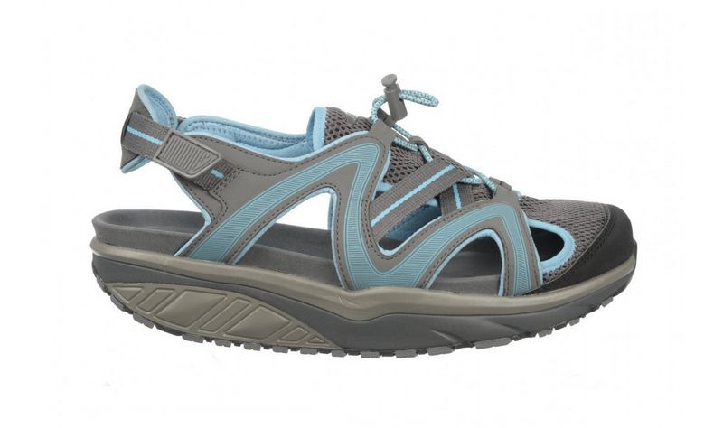 Men's MBT Sabra Trail Sandal Charcoal Gray and Blue
