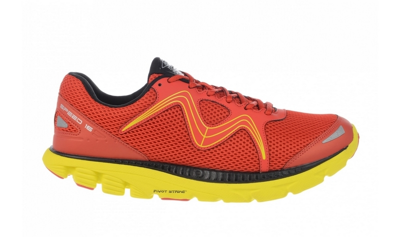 Men's MBT Speed 16 Lace Up Fire Red / Yellow / Black
