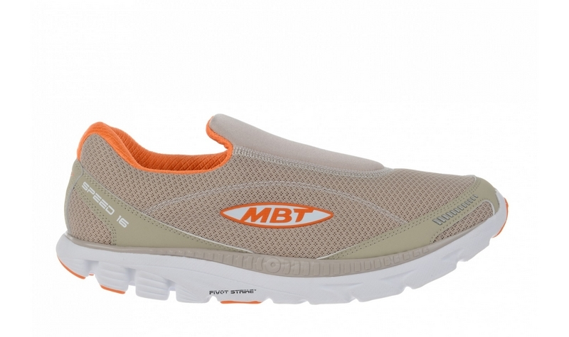 Men's MBT Speed 16 Slip On Warm Grey / Orange