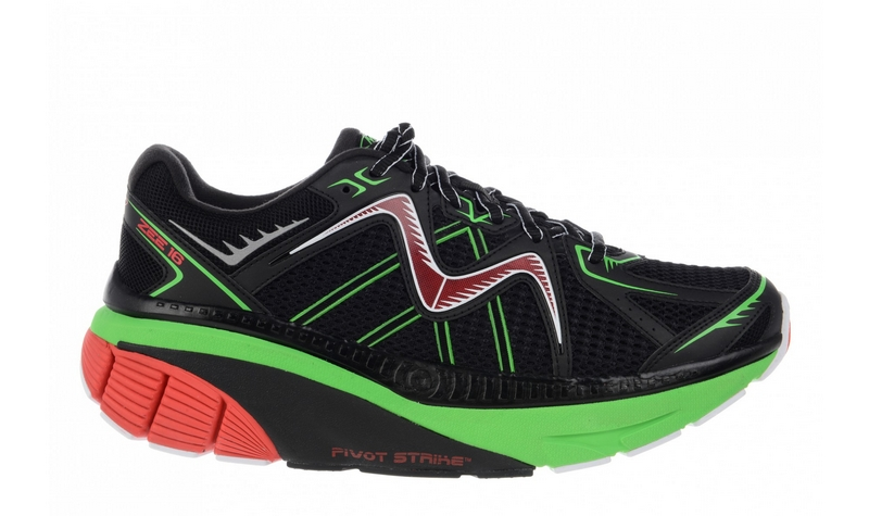 Mbt Mens Running Shoes Black/Fire Red/Lime